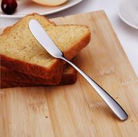 Wholesale Stainless Spreader - Stainless Steel Utensil Cutlery Butter Knife Cheese Dessert Jam Spreader Breakfast Tool Kitchen Tableware Knives