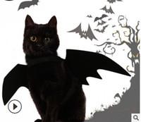 flügel für kostüme großhandel-Halloween Pet Bat Wings Katze Schwarz Bat Kostüm Halloween Lustige Katze Cosplay Kleidung Haustier Katze Kleidung Liefert