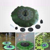 kits de loto al por mayor-Bomba de agua solar Bomba de agua flotante Kit de paneles Fuente Bomba de piscina Kit Lotus Leaf Estanque flotante Riego Bomba de agua sumergible para jardín