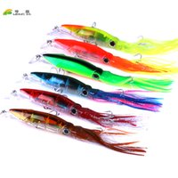 Wholesale tuna lure heads resale online - 6pcs cm g Marlin Tuna Trolling Lures with Mesh Bag Resin Head Trolling Skirts Lure Big Game Trolling Fishing Bait set