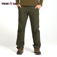 ingrosso abiti mk-Pantaloni Cargo dell'esercito libero Uomini Streetwear Pantaloni Pantalon Homme Abbigliamento uomo 2018 Abbigliamento uomo Pantaloni semplici solidi per MK-765