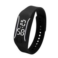 las mujeres miran el precio barato al por mayor-Silicona LED Relojes Deportivos Digitales Caucho Correr Reloj Fecha Hora Hombres Mujeres Unisex Pulsera Relojes de Pulsera Precio Barato E2