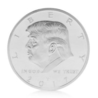 Wholesale coin for sale - American th President Donald Trump Silvery Commemorative Coins Token Hot