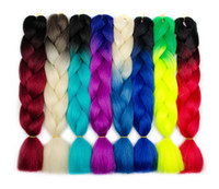 Wholesale kanekalon two toned for sale - Group buy Ombre Kanekalon Braiding Synthetic Hair Crochet Braids twist inch g Pack Ombre Two Tone Jumbo Braids Synthetic Hair Extensions