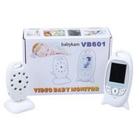 digitalkamera lcd-anzeige großhandel-Wireless Babyphone Way Talk Night Vision IR Kindermädchen Babyfoon Baby Kamera mit Musik Temperatur 2,0 Zoll Farbdisplay VB601
