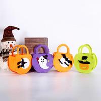 ingrosso zuppi puntelli-Halloween Bag Pumpkin Bat Witch Spider Bag Ghost Festival Sacchetto di caramelle per bambini Regalo Halloween Puntelli Decorazioni per feste