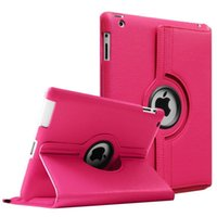 Wholesale ipad cases online - 360 Degrees Rotating PU Leather Flip Stand Cases for iPad Mini Air Pro