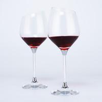 Wholesale k9 crystals design - Hot Sale Water Droplet Shaped Wine Glass filled with Rhinestone Stem & Crystal K9 Base Bevel Design Wine Goblet Set Drinking Cup