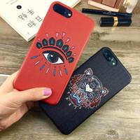 iphone 6plus s toptan satış-Marka Tiger Eyes telefon kılıfı için iphone 6 S 6 6 artı arka kapak iphone 7 7 artı 8 8 artı X XS XR XS Max