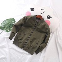 Wholesale Baby Baseball Jackets - Boy Girl Jacket Child Outerwear Spring Air Cotton Baby Boys Jacket 2018 Children's Clothing Jacket Child Baseball Uniform