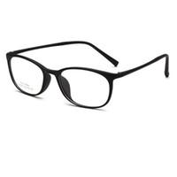 ingrosso occhiali da colata-2018 quadrati Molto leggeri Occhiali da vista TR90 Montature da uomo Donna Studente Lente ottica a specchio Montatura per occhiali Occhiali per miopia