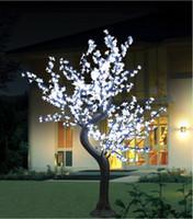 ingrosso hanno portato i gambi-Albero di simulazione LED palo Cherry Blossom Tree Luce albero naturale rami stelo per la festa di nozze a casa natale Indoor Outdoor Decoration