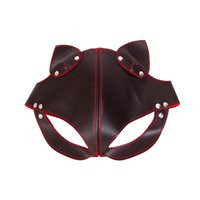 Wholesale sex for couples erotic toy resale online - BDSM Pu Leather Blindfold Cosplay Sex Mask Slave Erotic Toys Bdsm Bondage Sex Fetish Mask Exotic Accessories For Couples Adult
