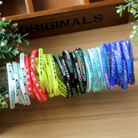 Wholesale high quality promotional gifts - Wholesale High quality Nice 1000pcs lot silicone bracelets  wristband promotional gift sports band Party Supplies T2I092