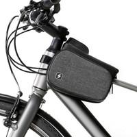 acessórios para celular venda por atacado-1.5L Bicicleta Quadro Frente Cabeça Superior Tubo Saco Da Bicicleta À Prova D 'Água Dupla Bolsa Ciclismo Para 6.0 em Celular Acessórios Da Bicicleta
