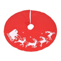 Wholesale Santa Claus Candles - 3*5*1cm Elk Santa Claus Christmas Tree Skirt Home Party Xmas Tree Decor