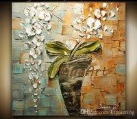 ingrosso dipinti a olio astratti strutturati-spatola pittura ad olio fiore dipinti ad olio contemporaneo strutturato arte astratta soggiorno con quadri decorativi moderni regalo unico