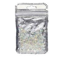 ingrosso strass retro formato piatto-Shellhard 720pcs / borsa piatto indietro 3D vetro nail art cristallo luccica misto formato AB chiodo strass di cristallo unghie Decorazione di arte