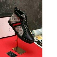 ayuda de cuero al por mayor-G Estallar Hombres Clásicos Con cordones Zapatos de Ayuda Alta Impresión Informal de Cuero Otoño Nuevo Patrón Plano inferior Male Plat Zapato Envío Gratis