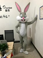 traje de coelho adulto venda por atacado-2017 Venda Como Hot Professional Coelho Da Páscoa Trajes Da Mascote Coelho e Bugs Bunny adulto mascote para venda