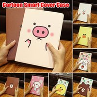 Wholesale apple animal cases online - Cute Little Animals Cartoon Leather Case for iPad Mini Stand Cover for Apple iPad Mini Fit for iPad Mini