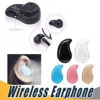Wholesale hid blue - S530 Mini Wireless Stealth Bluetooth Earphone Stereo Headphone Headset Earbuds with Mic Untra-Small Hidden For iPhone with Retail Package