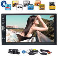 Wholesale Micro Bluetooth Handsfree - Double Din Autoradio Bluetooth Handsfree Calling 7'' LCD Monitor USB Micro SD Card Slot AM FM Radio AUX Input In Dash Car Stereo+camera