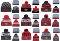 en iyi örme şapkalar toptan satış-Sıcak Satış San Francisco 49ers Beanies Jimmy Garoppolo En Kaliteli Dikişli Örgü Şapkalar Tüm Ekipleri Karışık kış Örme Caps