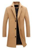 vollfarb-windjacke großhandel-Herren Trenchcoats Designer Jacken Windjacke 2018 Herren Designer Wintermäntel Herrenkleidung plus Größenkleidung für Männer einfarbig Mäntel