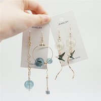 ingrosso orecchini a bolle-Original Design Bubble Long Dangle Earrings For Women Dreamlike Glass Ball Orecchini a goccia coreano Gioielli di moda 2018 Top Quality