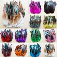 diy accessories supplies Australia - Wholesale 50pcs lot high quality rooster tail feather 6-8inch 15-20cm and Dyed Feathers DIY Jewelry Accessories JM-02