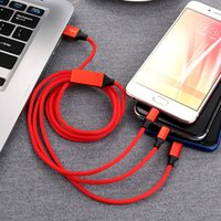Wholesale types cell phones cables - For Apple Android Type-c three-in-one fast charge usb multi-function mobile phone charging Cell Phone Cables