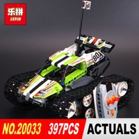 Wholesale rc tracks - New Lepin 20033 Technic Series The RC Track Remote-control Race Car Set Building Blocks Bricks Educational Children 42065 Toys