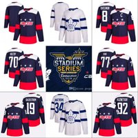 Wholesale Gold Leafs - 2018 Stadium Series Jerseys Leafs Mitchell Marner Auston Matthews William Nylander Capitals Alex Ovechkin Braden Holtby T.J. Oshie Jerseys