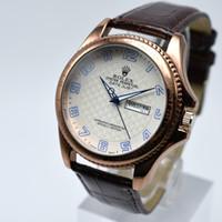 58f829b2927 Réplica de couro de alta qualidade relógios dos homens top marca de luxo  homem relógio à prova d  água moda relógios casuais relógio de quartzo  homens ...