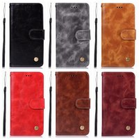 Wholesale phone lg x6 for sale – best Vintage Leather Wallet Case For Nokia X6 Galaxy A6 Plus J3 J7 LG Aristo2 Retro ID Card Slot Flip Cover Luxury Phone PU Pouch