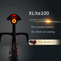 Wholesale Usb Start - Xlite100 Smart Bike Bicycle Taillight USB Rechargeable Led Cycling Tail Light Auto Start Stop Brake Sensing IPx6 Waterproof
