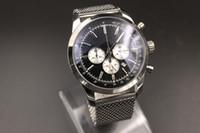 более чем 60 брендов оптовых-2019 новинки мужские синие циферблат из нержавеющей стали ремешок для часов цифровые часы Montreux Hommme часы 1884 коллекция Navitimer