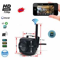 Wholesale iphone detection - Waterproof Outdoor IP66 720P HD Mini Wifi IP Camera Motion Detection Night Vision SD Card Support Android iPhone P2P Camhi View