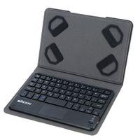 estuche plegable para teclado al por mayor-KKMOON Ultra Thin Mini Wireless Bluetooth Gaming Keyboard con Touchpad Funda de cuero plegable para Smartphone 7