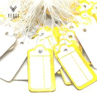 Wholesale Jewelry String Tags Wholesale - 500 PCS price tag tie string display label tag 23x13mm chic Jewelry price tag