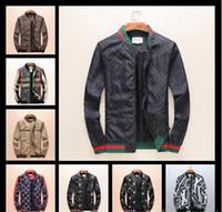 Wholesale Printed Hoodie Tiger - 2018 Fashion Mens Windbreaker Autumn Jacket With Hoodies Tiger Embroidery Designer Brand Jacket Coat Luxury Brand Jacket Men