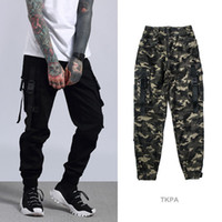Wholesale Relaxed Cargo Pants - Kanye High Street Cargo Pants Camouflage Big Pocket Casual Men Jogger Pants Brand Designer Bottom Clothing