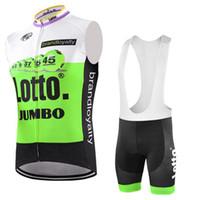 trikot lärm lotto großhandel-Lotto Tour de France Radtrikot Anti UV Trägerhose Set ärmellose Radsportbekleidung Mens MTB Bike Wear Shirt Maillot Ropa ciclismo