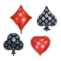 coração em forma de balões de folha venda por atacado-Venda imperdível !!! 10 pçs / set 22 polegada de Espadas / Diamante / Forma Do Coração Foil Balão Jogando Cartas Casino Poker Escolha