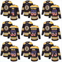 Youth 37 Patrice Bergeron USA Flag Stitched Boston Bruins 33 Zdeno Chara 88  David Pastrnak 46 David Krejci 40 Tuukka Rask Hockey jerseys 074c00573