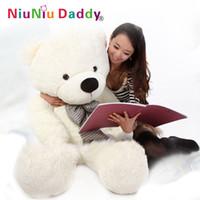 ingrosso grande orso di orsacchiotto valentines day-Trasporto libero, giocattoli della peluche grande size100cm / orsacchiotto 1m / grande bambola dell'orso di abbraccio / amanti / regalo di compleanno regalo di San Valentino