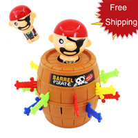 Wholesale pirate barrel toy online - Hot Selling The pirates barrels strange whimsy pirates barrels Uncle Family Wacky and Novel Toys Bingo kids toys