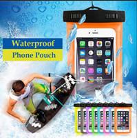 подводный чехол для мобильных телефонов оптовых-Водонепроницаемый подводный поплавок Сумка мешок мобильного телефона сухой мешок мешок пакет чехол для сотового телефона iPhone EEA124