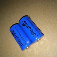 ingrosso batterie al litio cr123a ricaricabili-Batteria al litio ricaricabile UltreFire blu batteria CR123A / 16340 1500mAh 3.7V di alta qualità Spedizione gratuita